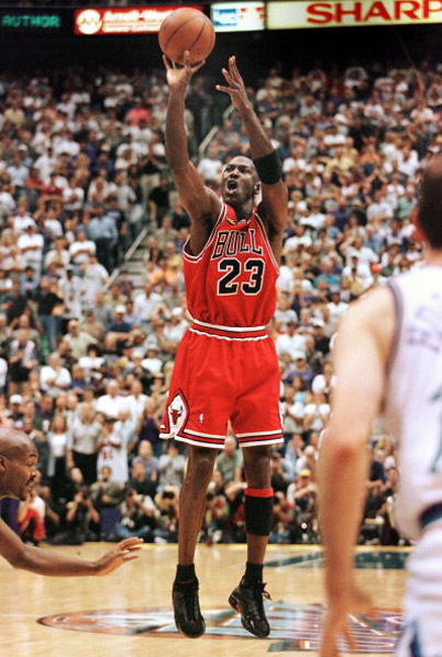 Michael Jordan in the moment